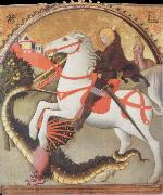 SANO di Pietro St.George and the Dragon oil painting artist