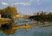Thomas Eakins Max Schmitt in a single scull oil painting picture wholesale