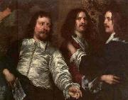 William Dobson The Painter with Sir Charles Cottrell and Sir Balthasar Gerbier by William Dobson oil painting artist