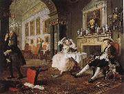 William Hogarth fashionable marriage - breakfast scene oil painting picture wholesale