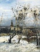 Alexei Savrasov The Rooks Have Come Back was painted by Savrasov near Ipatiev Monastery in Kostroma. oil painting artist