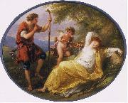 Angelica Kauffmann A Sleeping Nymph Watched by a Shepherd oil painting picture wholesale