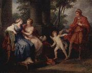 Angelica Kauffmann Venus convinces Helen to go with Paris oil painting picture wholesale