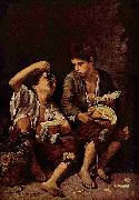 Bartolome Esteban Murillo Beggar Boys Eating Grapes and Melon oil painting picture wholesale