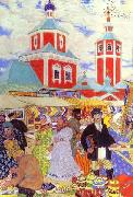 Boris Kustodiev Fair oil painting picture wholesale