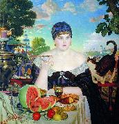 Boris Kustodiev The Merchant Wife oil painting picture wholesale