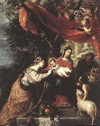 CEREZO, Mateo The Mystic Marriage of St Catherine oil painting artist
