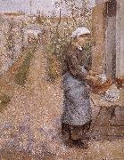 Camille Pissarro woman washing dishes oil painting picture wholesale