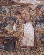 Camille Pissarro woman selling pork oil painting picture wholesale