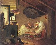 Carl Spitzweg The Poor Poet, oil