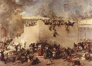 Francesco Hayez Destruction of the Temple of Jerusalem oil painting picture wholesale