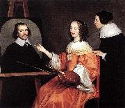 Gerard van Honthorst Margareta Maria de Roodere and Her Parents by Gerrit van Honthorst oil painting picture wholesale