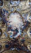 Giovanni Battista Gaulli Called Baccicio The Worship of the Holy Name of Jesus, with Gianlorenzo Bernini, on the ceiling of the nave of the Church of the Jesus in Rome. oil painting picture wholesale