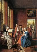 HOREMANS, Jan Jozef II Concert in an Interior oil painting artist