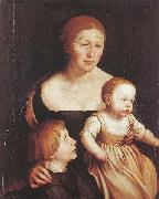 Hans holbein the younger The Artist Family oil painting picture wholesale