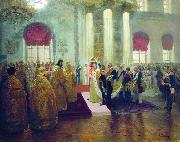 Ilya Repin Wedding of Nicholas II and Alexandra Fyodorovna, oil painting picture wholesale