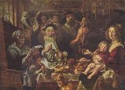 Jacob Jordaens Jacob Jordaens, As the Old Sang, So the young Pipe. oil painting picture wholesale