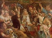 Jacob Jordaens Jacob Jordaens. The King Drinks oil painting picture wholesale