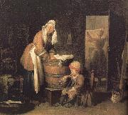 Jean Baptiste Simeon Chardin Women washing clothes oil painting picture wholesale