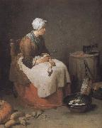 Jean Baptiste Simeon Chardin Exhausted radish skin s mother oil painting picture wholesale