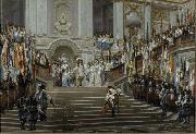Jean-Leon Gerome Reception of Le Grand Conde at Versailles oil painting picture wholesale