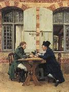 Jean-Louis-Ernest Meissonier The Card Players, oil painting picture wholesale