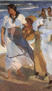 Joaquin Sorolla Valencia beaches oil painting reproduction