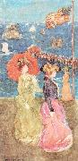 Maurice Prendergast Figures Under the Flag oil painting picture wholesale