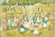 Maurice Prendergast May Day Central Park oil painting artist