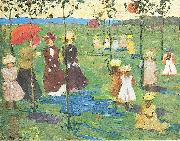 Maurice Prendergast Franklin Park Boston oil painting artist