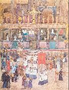 Maurice Prendergast Easter Procession St. Mark's oil painting picture wholesale