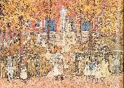 Maurice Prendergast West Church Boston oil painting picture wholesale