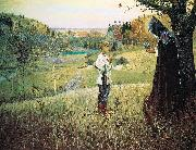 Mikhail Nesterov The Vision of the Youth Bartholomew oil painting artist