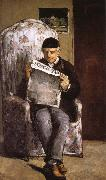 Paul Cezanne in reading the artist's father oil painting picture wholesale