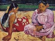 Paul Gauguin Tahitian Women on the Beach oil painting picture wholesale