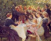 Peder Severin Kroyer Hip hip hooray oil painting picture wholesale