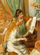 Pierre-Auguste Renoir Girls at the Piano, oil painting reproduction