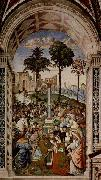 Pinturicchio Fresco at the Siena Cathedral by Pinturicchio depicting Pope Pius II oil painting picture wholesale
