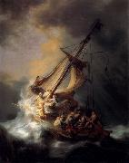 REMBRANDT Harmenszoon van Rijn Christ in the Storm on the Lake of Galilee, oil painting picture wholesale