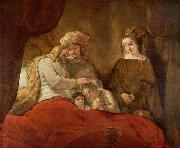 REMBRANDT Harmenszoon van Rijn Jacob blessing Joseph second son, oil painting picture wholesale
