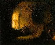 REMBRANDT Harmenszoon van Rijn The Philosopher in Meditation, oil painting picture wholesale