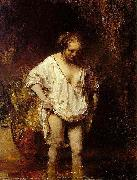 REMBRANDT Harmenszoon van Rijn Bathing woman, modelled by Hendrickje, oil painting picture wholesale