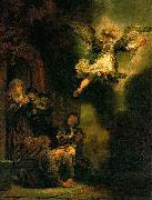 REMBRANDT Harmenszoon van Rijn The Archangel leaving Tobias, oil painting picture wholesale