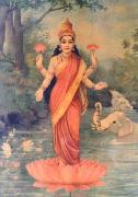 Raja Ravi Varma Lakshmi oil painting picture wholesale