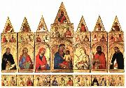 Simone Martini Madonna with the Holy Ones, oil painting picture wholesale