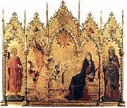 Simone Martini The Annunciation with St. Margaret and St. Asano, oil painting picture wholesale