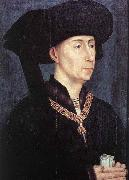 WEYDEN, Rogier van der Portrait of Philip the Good after oil