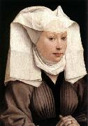 WEYDEN, Rogier van der Lady Wearing a Gauze Headdress oil