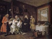 William Hogarth Group painting fashionable marriage of the dead countess oil painting reproduction