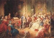 antonin dvorak the young mozart being presented by joseph ii to his wife, the empress maria theresa oil painting picture wholesale